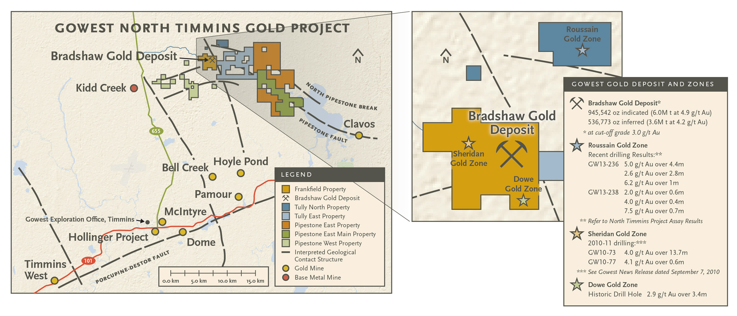 North Timmins Gold Project Gowest Gold