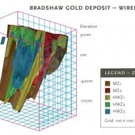 Bradshaw Gold Deposit - Wireframe